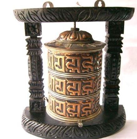 Handmade Nepalese Prayer Wheel Turner Buddhist Prayer