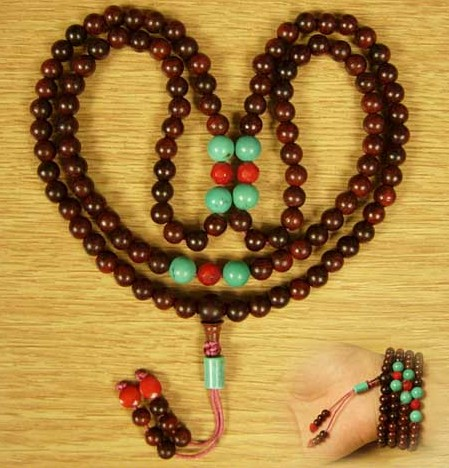 Consecration 6MM Redsandalwood 108 Beads Mala