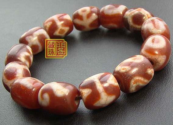 Consecration DZI Tibetan Wrist Malas Buddhist Prayer Beads Bracelet