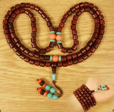 Consecration Tibetan 8MM Redsandalwood 108 Beads Mala