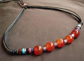 Fashion Tibet Handmade Leather Necklace