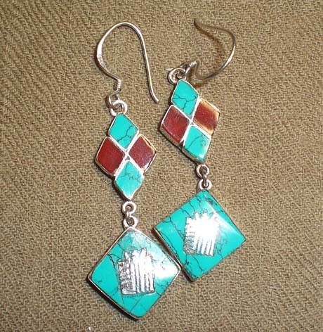 Tibetan Handmade Ancient Symbol Earrings