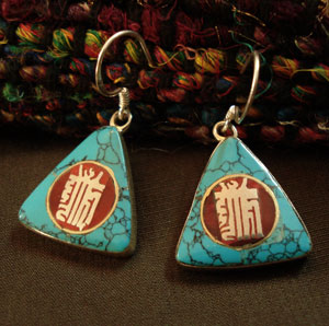 Nepalese Handmade Ancient Symbol Earrings