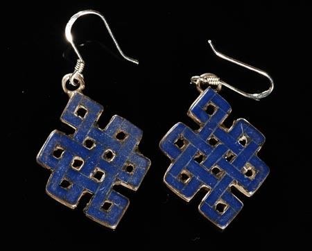 Handmade Tibetan Endless Knot Earrings