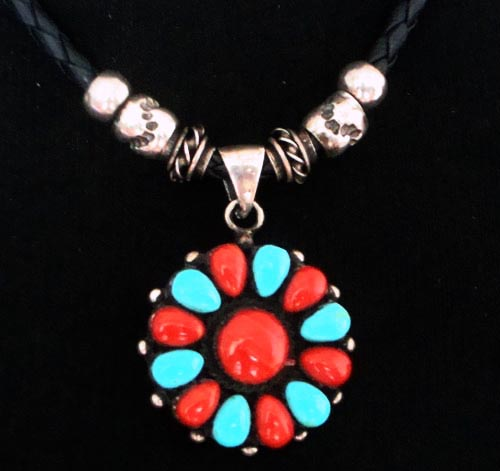 Handmade Tibetan Leather Necklace Tibetan Charming Necklace