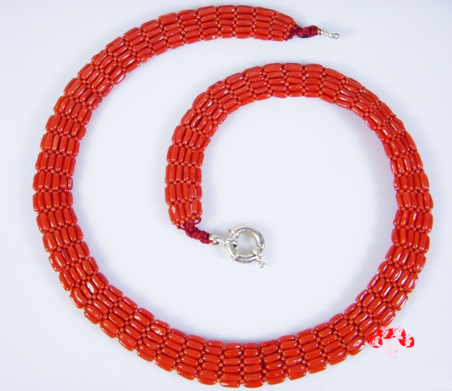 Handmade Tibetan Red Coral Necklace Sterling Silver Coral Necklace