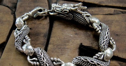 Handmade Tibetan Sterling Silver Dragon Bracelet Wishbop Com