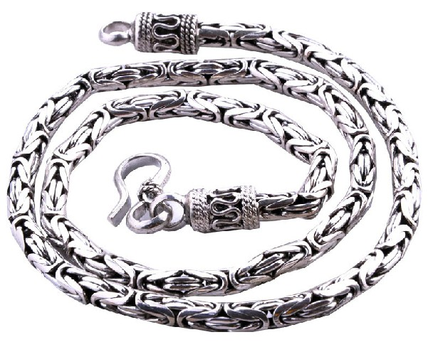 Handmade Tibetan Sterling Silver Longevity Necklace