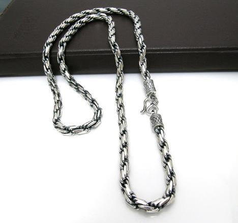 Tibet Silver Jewelry Handmade Tibetan Sterling Silver Necklace