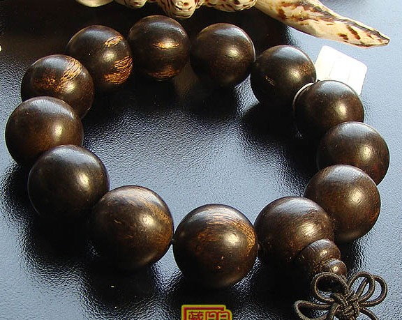 Indian Agarwood Mala Bracelet Agarwood Beads Wrist Mala