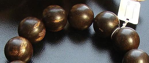 Indian Agarwood Mala Bracelet Agarwood Beads Wrist Mala