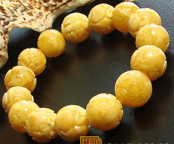 Tibetan 14MM Mila Dragon Mala Bracelet Buddhist Prayer Beads Bracelet
