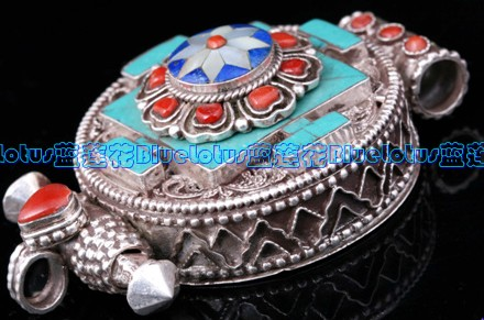 Tibetan buddhist prayer box pendant handmade gau pendant wishbop tibetan buddhist prayer box pendant handmade gau pendant aloadofball Image collections
