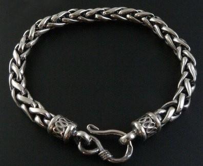 Tibetan Handmade Bracelet Sterling Silver Skull