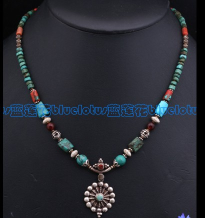 Tibetan Handmade Turquoise Coral Necklace