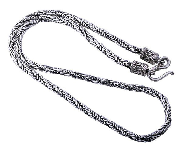 Tibetan Handmade Sterling Silver Necklace for Men