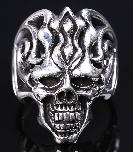Tibetan Skull Ring Tibetan Stirling Silver Ring