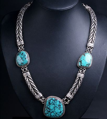 Tibetan Turquoise Necklace Handmade Tibetan Necklace