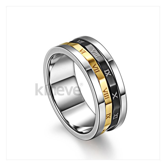 Rome Password Men Rotatable Ring