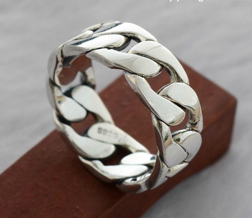 925 Sterling Silver Weave Chain Ring Wishbop Com