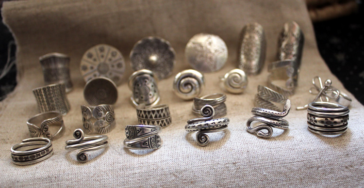 New Nepal Handmade Sterling Silver Rings Series A