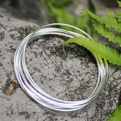 A Group Of Seven Retro 925 Sterling Silver Bracelets