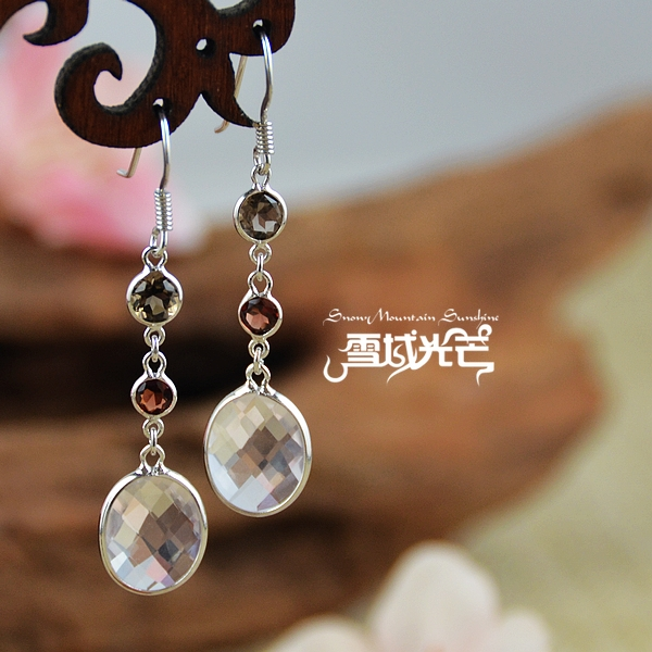 Handmade 925 Silver Natural Amethyst Earrings