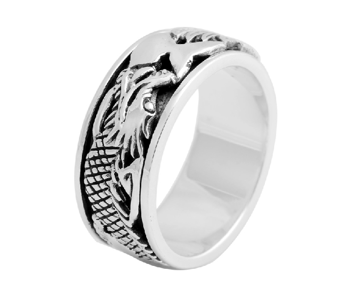 Men And Women 925 Silver Dragon Ring
