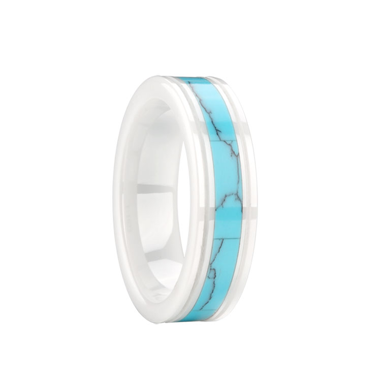 Space porcelain Turquoise Ring