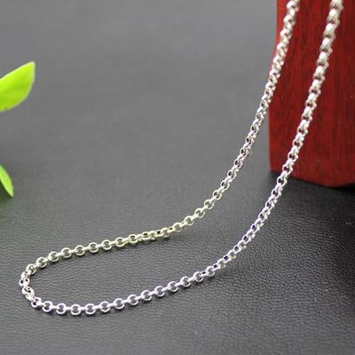 3.5MM Thickness 925 Sterling Silver Circled Necklace Chain On Sale