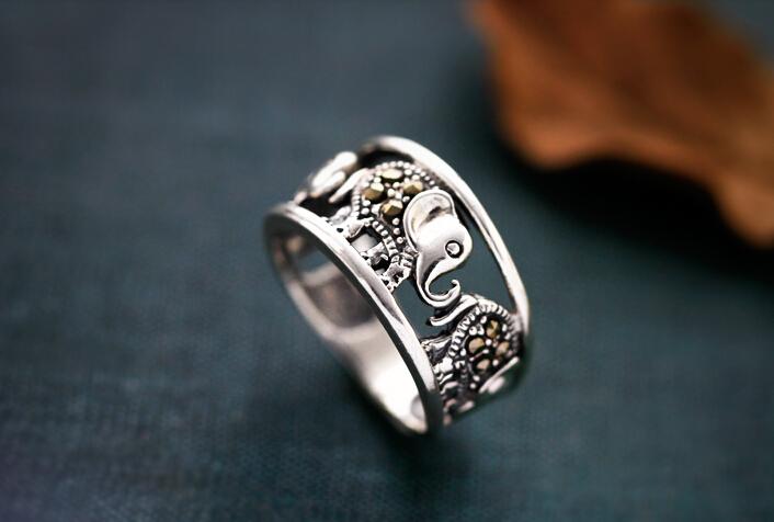 925 Sterling Silver Elephant Ring Wishbop Com