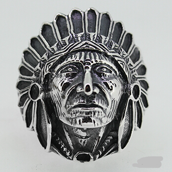 Indian Chiefs Vintage Silver Men Ring