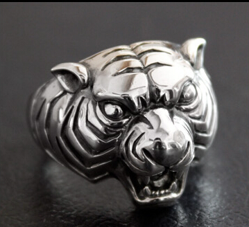 Tiger Head 925 Silver Ring