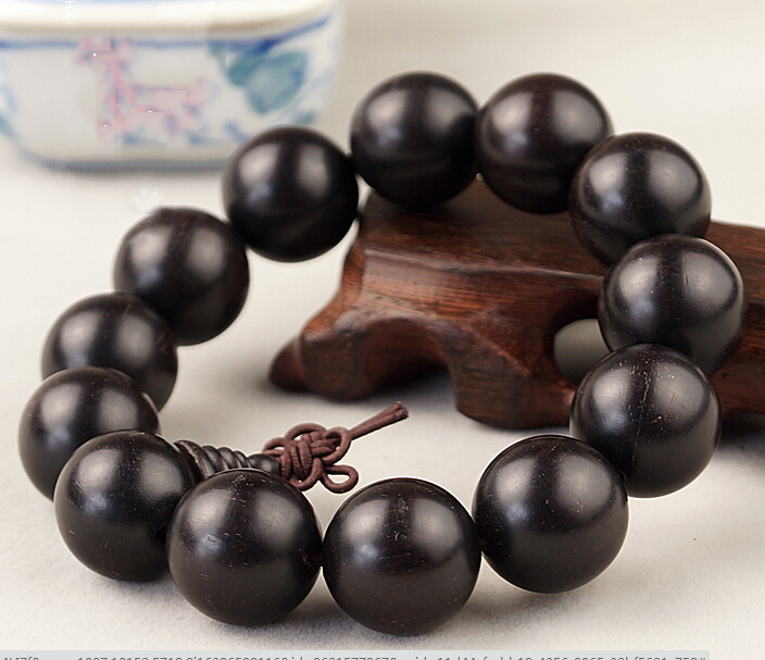 10MM 12MM 15MM 18MM 3A Grade Ebony Prayer Bracelet For Buddhists