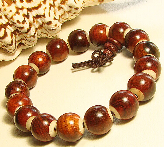11MM Myanmar Red Sandalwood Buddhist Prayer Bracelet