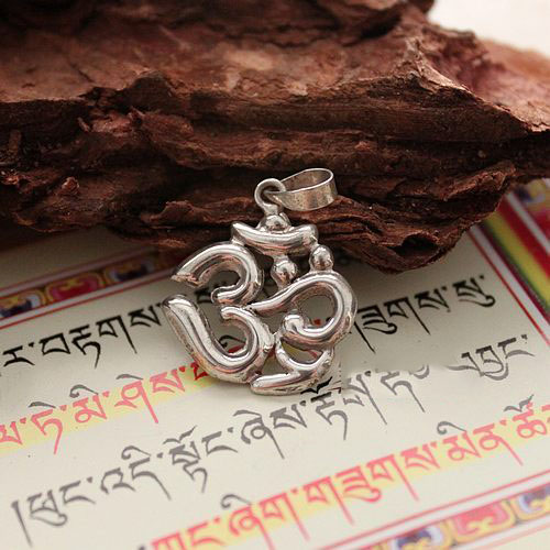 Handmade 925 Silver OM Mantra Hollow Out Pendant