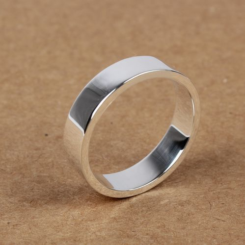 Handmade S925 Sterling Silver Simple Women Ring Wishbop Com