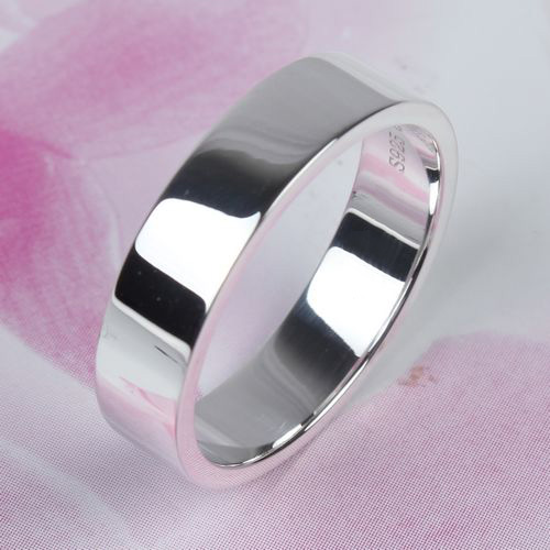 Handmade S925 Sterling Silver Simple Women Ring