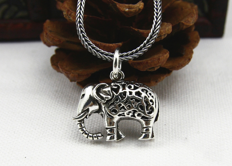 Thai Sterling Silver Elephant Pendant With No Chain
