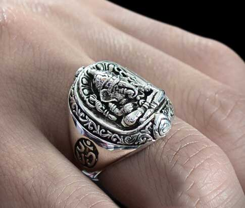Retro 925 Siver Elephant Trunk Man Ring